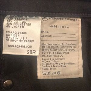 Ag Adriano Goldschmied Jeans - AG HIGH RISE STEVIE ankle 28r